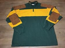 Mens Orvis Rugby Pullover Shooting Shirt Elbow Pads Patches Shoulder Patch M