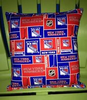 Rangers Pillow NHL Pillow New York Rangers Pillow HANDMADE In USA Hockey Pillow