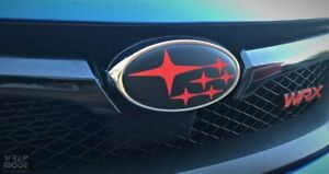 Front and Rear Badge Overlay - For Subaru WRX/STI Hatch 2011-2014