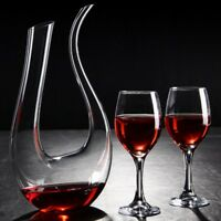 Luxurious Crystal Glass U Shape Wine Decanter Wine Pourer Red Wine Carafe 1500ml