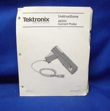Tektronix A6303 Current Probe Instruction Manual