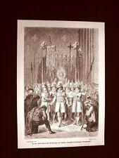 Incisione di Gustave Dorè del 1874 Seises Siviglia Santissimo Sacramento Spagna