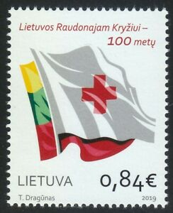 Lithuania 2019 MNH To Red Cross of Lithuania .Flags.Medicine **