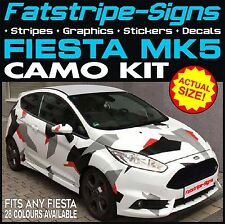 FORD FIESTA MK5 GRAPHICS CAMO STICKERS DECALS BONNET ROOF CAMOUFLAGE ST ZETEC RS