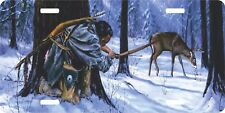 Indian Native American Deer Hunt Arrow Auto Vanity Tag Truck Car License Plate