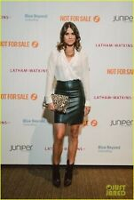 INCREDIBLY SEXY ALL SAINTS GREEN PENCIL LEATHER SKIRT, UK10 US6,EU38, PERFECT CO
