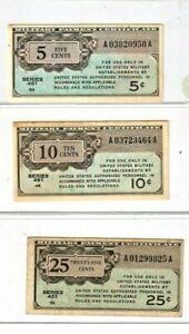 """3 FOR 1 """"MILITARY PAYMENT NOTES"""" (SERIES 461)  3 FOR 1 MONEY! CRISPY NOTES!!!!!"""