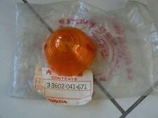Honda C50 C70 C90 S90 CB100 125 CL100 125 Indicator Lens OEM Rare 33602-041-671