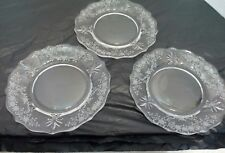 Fostoria Meadow Rose 3 Bread and Butter Plates 6""