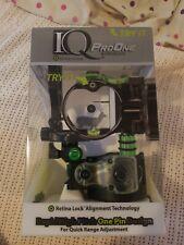 New IQ Bowsight Pro One 1 Single Pin Bow Sight W/ Retina Lock Right Hand 00348