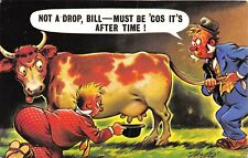 POSTCARD  COMIC    BAMFORTH  Drunks  Milking  the  Cow