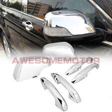 Chrome Side Door Handle Cover + Rear View Mirror Cover For 07-11 Honda CR-V CRV