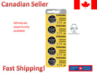 Toshiba CR2032 2032 3 Volt Lithium Coin Battery EXPIRY 2027 (5 Batteries) Canada