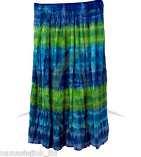 Bohemian Skirt Gypsy Boho Hippies Indian Long Skirts Elastic Drawstring One Size
