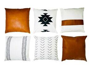 Boho Throw Pillows Cover Set - 6 Decorative bohemian throw pillow -Aztec Pillow