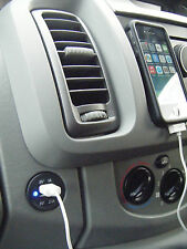 VAUXHALL VIVARO TRAFFIC PRIMASTER VAN DASHBOARD TWIN USB I PHONE CHARGER B/LED