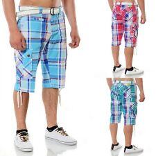 Markenlose karierte Herren-Shorts & -Bermudas aus Baumwolle