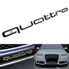 Pour Audi Quattro Avant Grill Badge Logo Emblème Noir S3 S4 S5 S6 Q2 Q3 Q5 Q7 TT