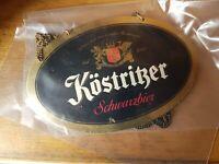 Köstritzer Schwarzbier  - Zapfhahnschild   Blech
