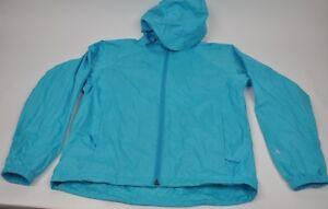 Women's ALPINE DESIGN Teal Light Windbreaker Rain Jacket Zip w/ Hood Size M
