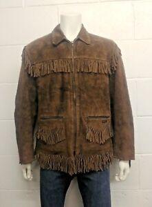 Diesel Genuine Steer Hide Leather Suede zip up Jacket. Men's size Large
