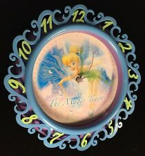 "Disney Tinkerbell Faires Wall Clock -Flora Magic Touch 11"" Pretty Little Pixie"