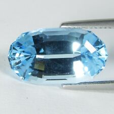 13.60Cts Genuine Natural Sky Blue Topaz Oval Custom Cut Loose Gemstone Ref VDO
