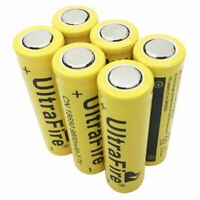 6X Flat Top Battery 18650 9800mAh Li-ion 3.7V Rechargeable for Flashlight Torch