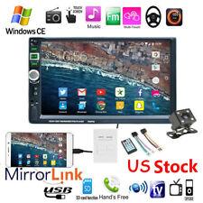 "7"" 2 Din Car Radio AUX/DVR/FM Bluetooth MP5 Player Touch Screen Stereo Head Unit"