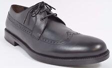 A. Testoni BASIC Mens Calfskin Derby Wingtip Dress Shoes Size 9 Black NIB