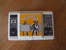 "Lcd game Casio "" Western bar "" CG 300  game Watch"