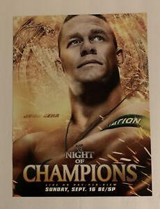 "WWF WWE Poster Print John Cena Night Of Champions 2002 9/16/02 12"" x 16"" Boston"