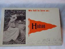 Hudson Mn Minn Minnesota, We Fell In Love , early postcard, 1912