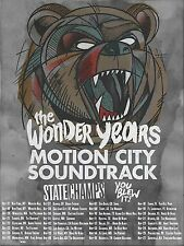 WONDER YEARS /  MOTION CITY SOUNDTRACK 2015 NORTH AMERICAN CONCERT TOUR POSTER