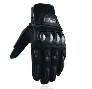 Alloy Steel Leather Gloves Bicycle Motorcycle Motorbike Racing Gloves  Fashion