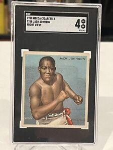 Rare 1910 Mecca Cigarettes T218 Jack Johnson Front View Boxing Card SGC 4 psa