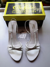 Buffalo London Pumps Sandalen Größe 41 Strasssteine weiß 1x getragen