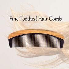 Beard Mustache Comb Handmade Natural Sandalwood Ox Horn No Static Pocket Hair