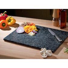 Large Black Kitchen Granite Speckled Stone Cutting Chopping Board Worktop Saver