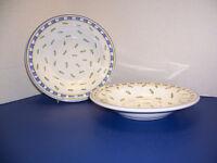 "Williams Sonoma Tournesol 2 Soup Pasta Bowls (9 3/8"") Italy Multicolor w/ Leaves"