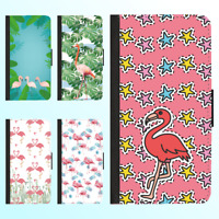 iPhone XS Max XR X 8 Plus 7 6s 6 Case Flip Wallet Shockproof Flamingo Cover