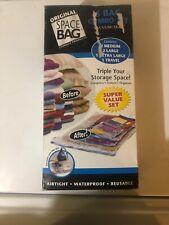 Original Space Bag Vacuum Seal Combo Set 6 Piece - 2 Lg, 2 Med, 1 XL, 1 Travel