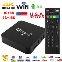 MXQ Pro 4K HD 5G Wifi Android 9.0 Quad Core Smart TV Box Media Player 8/16GB