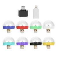 USB Disco Ball Light LED Party Lamp Colorful Effect Stage Lights Home Decor