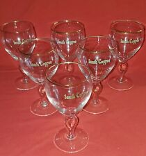 Vintage Irish Coffee Glasses with Gold Rim Set of 6 with bonus Recipe Glass