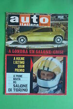 Auto Italian 44/1969 Salon London Fittipaldi Fiat 124 Coupe' Lancia HF Fulvia