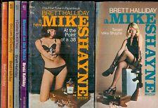 Brett Halliday: Mike Shayne ~ Lot Of Six Books ~ Vintage Paperbacks