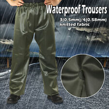 0.58MM Thick PVC Men's Winter Waterproof Over Trousers Climbing Golf Rain Pants