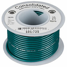 Consolidated Stranded 18 AWG Hook-Up Wire 25 ft. Green UL Ra