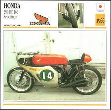SCHEDA MOTO MOTORBIKE CARD - HONDA 250 RC 166 Sei cilindri - 1966
